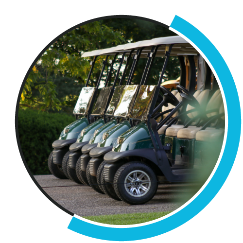 pro shop image of golf cars